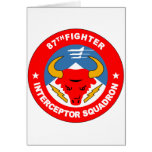 87th Fighter Interceptor Squadron Greeting Card