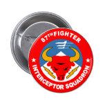 87th Fighter Interceptor Squadron Pinback Button