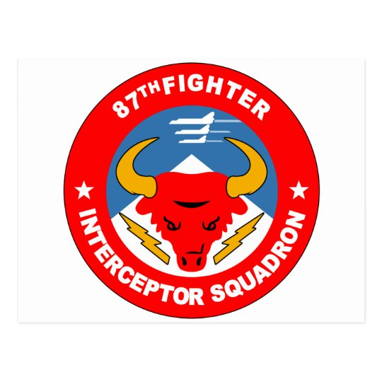 87th Fighter Interceptor Squadron Postcard