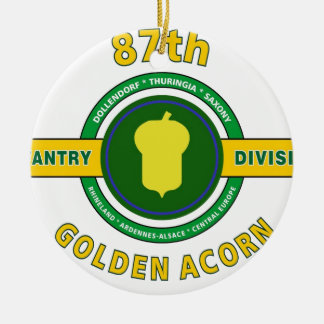 "87TH INFANTRY DIVISION ""GOLDEN ACORN"" CHRISTMAS ORNAMENT"