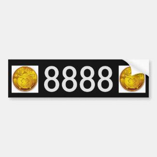 8888 Money Forever License Plate Bumper Sticker