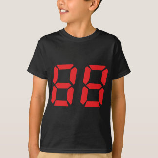 88 eighty-eight red alarm clock digital number T-Shirt