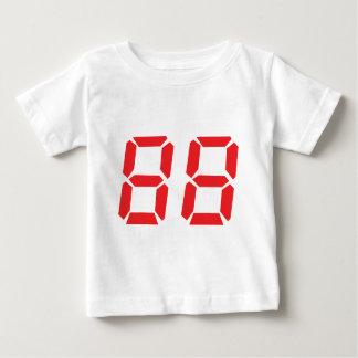 88 eighty-eight red alarm clock digital number tees