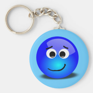 88-Free-3D-Apprehensive-Smiley-Face-Clipart-Illust Basic Round Button Key Ring