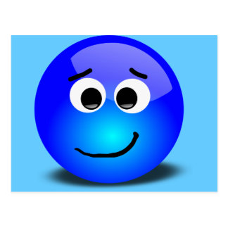 88-Free-3D-Apprehensive-Smiley-Face-Clipart-Illust Postcard