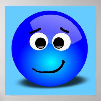 88-Free-3D-Apprehensive-Smiley-Face-Clipart-Illust Poster