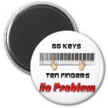 88 Keys Ten Fingers 6 Cm Round Magnet