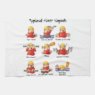 88. River Signals Colour Tea Towel