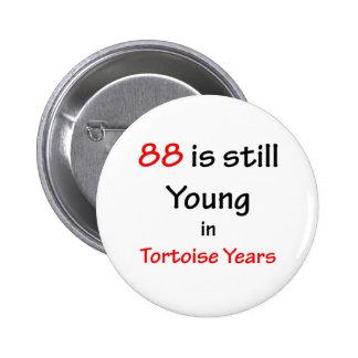 88 Tortoise Years 6 Cm Round Badge