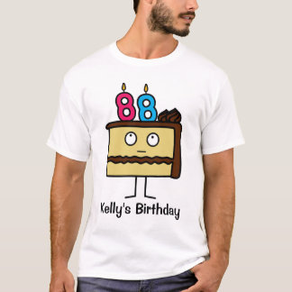 88th Birthday Cake with Candles T-Shirt