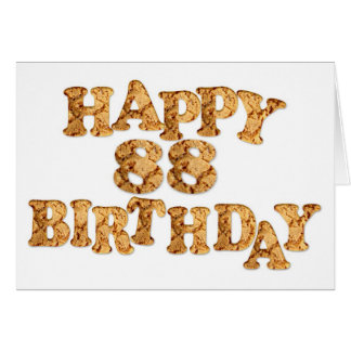 88th Birthday card for a cookie lover