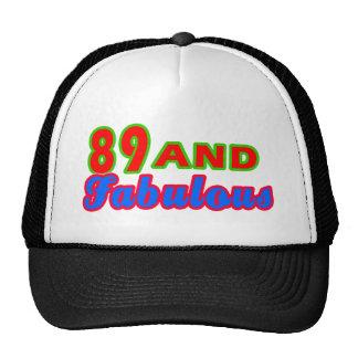 89 and Fabulous Birthday Designs Mesh Hat