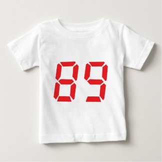 89 eighty-nine red alarm clock digital number t-shirt