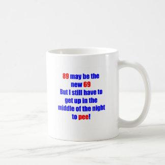 89 new 69 classic white coffee mug