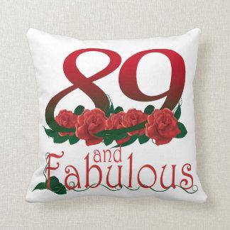 "89th birthday Throw Pillow 16"" x 16"""
