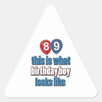 89th year birthday designs stickers