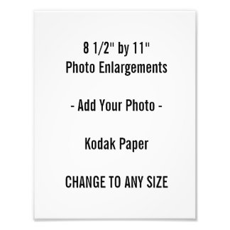 """8 1/2"""" by 11""""  Photo Enlargement"""