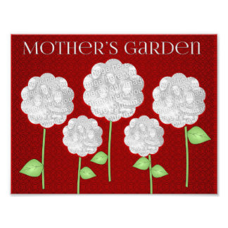 8-1/2x11 Mother's Garden Red Photo Collage