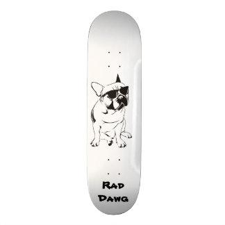 """8 1/8"""" Skateboard with Rad French Bull Dawg"""