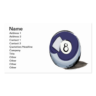 8 Ball 2 Pack Of Standard Business Cards