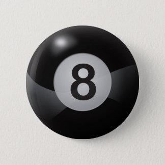 8 Ball 6 Cm Round Badge