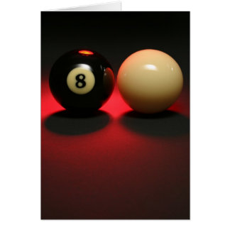 8 Ball and Cue Ball Card