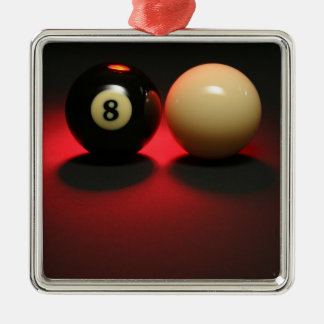 8 Ball and Cue Ball Christmas Ornament