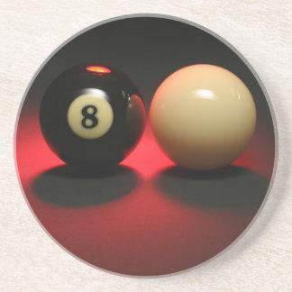 8 Ball and Cue Ball Coaster