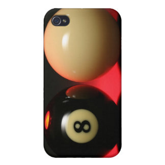 8 Ball and Cue Ball iPhone 4 Cover