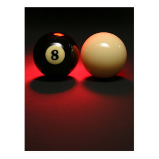 8 Ball and Cue Ball Postcard