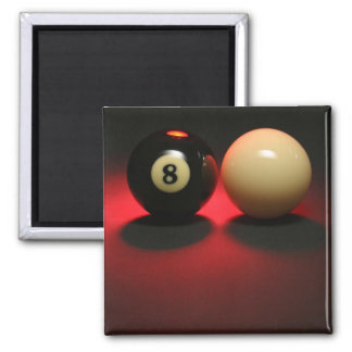 8 Ball and Cue Ball Square Magnet