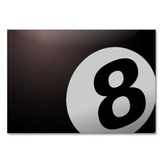 8 Ball Billiard Pool Table Card