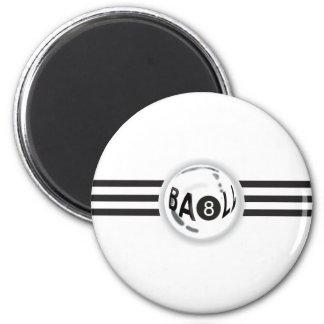8 Ball Black Stripes 6 Cm Round Magnet