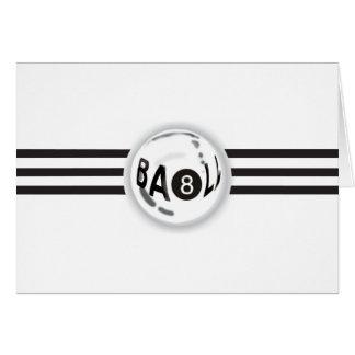 8 Ball Black Stripes Card