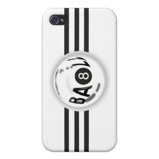 8 Ball Black Stripes Case For The iPhone 4