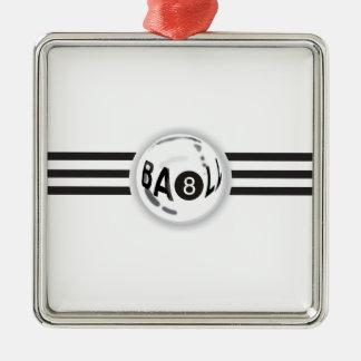 8 Ball Black Stripes Christmas Ornament
