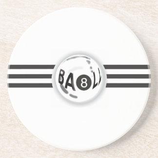 8 Ball Black Stripes Coaster