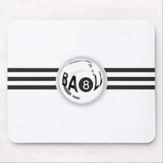 8 Ball Black Stripes Mouse Mat