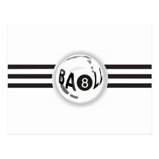 8 Ball Black Stripes Postcard