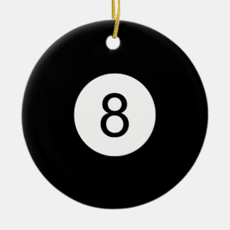 8 Ball Christmas Ornament