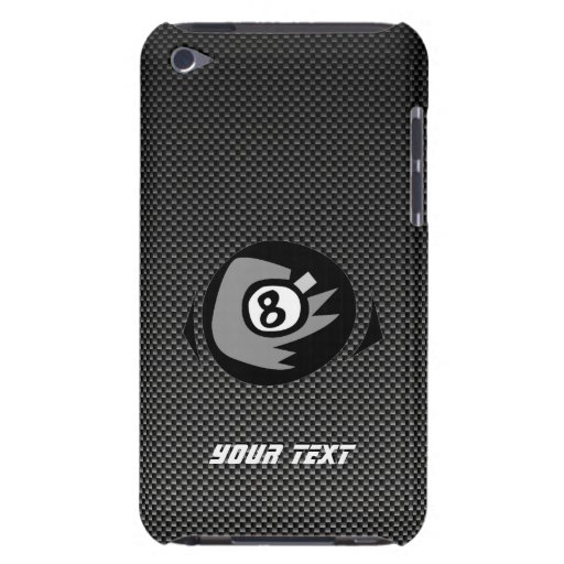 8 ball; Faux Carbon Fiber Barely There iPod Covers