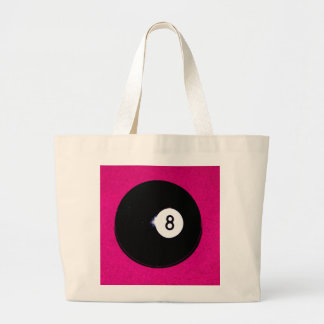8 Ball on Pink Tote Bags