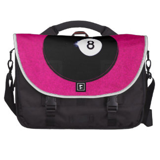 8 Ball on Pink Laptop Bags