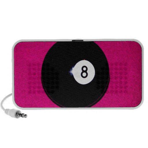 8 Ball on Pink Notebook Speaker