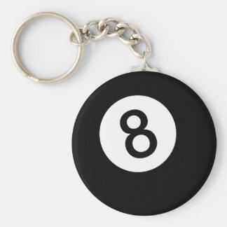 8 Ball or Black Ball Key Ring