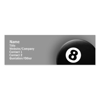 8 Ball Pack Of Skinny Business Cards