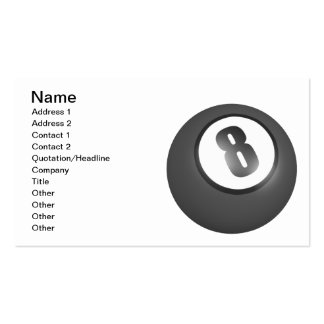 8 Ball Pack Of Standard Business Cards