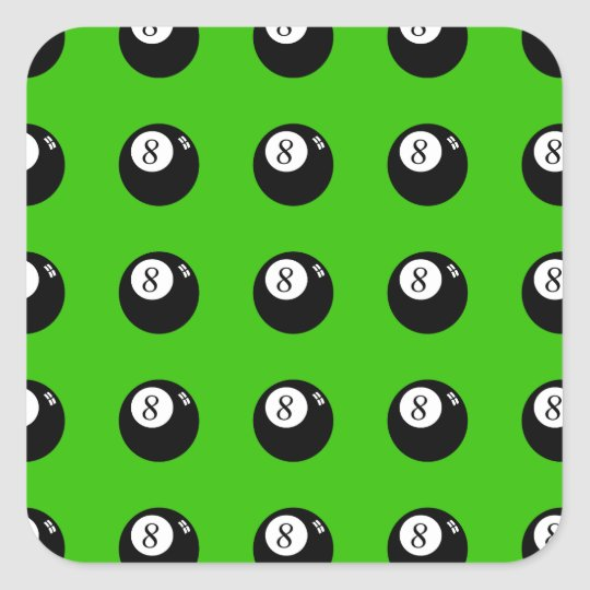8-Ball Pool Square Sticker