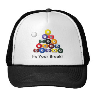 8-ball rack caps mesh hats