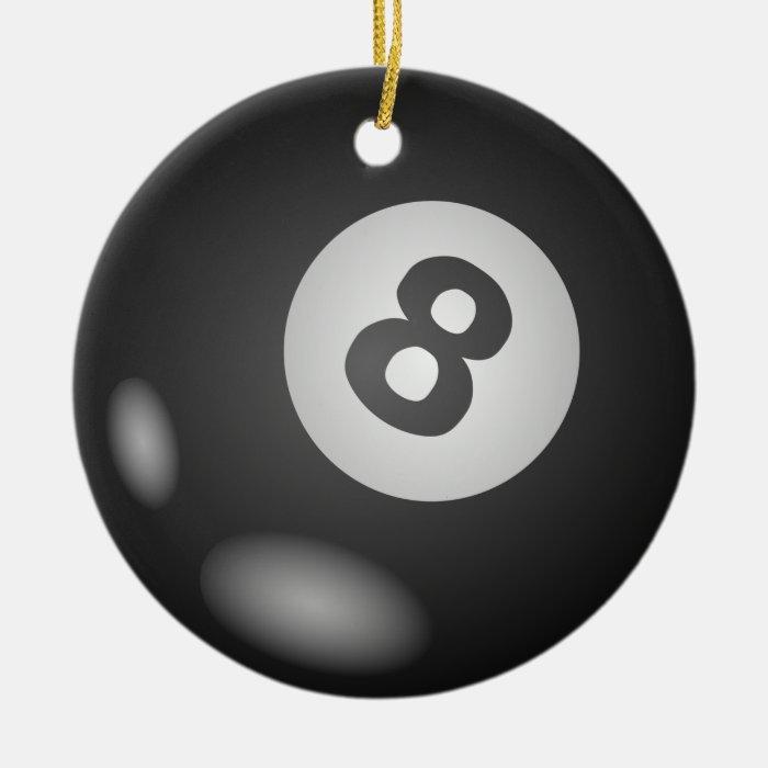 8 Ball Round Hanging Ornament